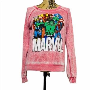 Marvel Pink Superhero Sweatshirt Women's Size SM